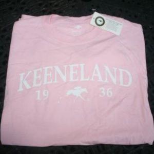 Keeneland Racecourse T-shirt Pink Horse Racing